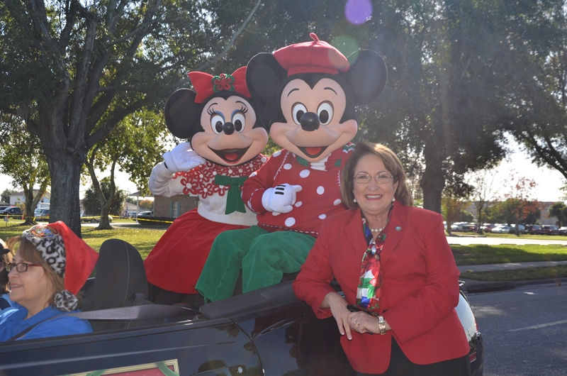 Mayor Jacobs with Disney Characters
